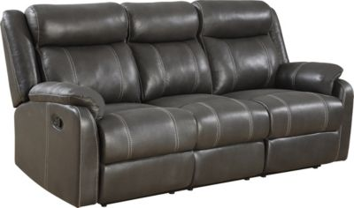 Klaussner Domino Reclining Sofa With Drop Down Table Homemakers