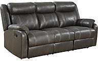 Klaussner Domino Reclining Sofa with Drop Down Table