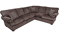 Klaussner Cliffside Brown 2-Piece Sectional