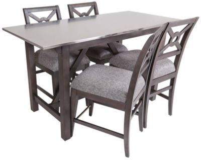 Klaussner Trisha Yearwood Counter Table 4 Stools
