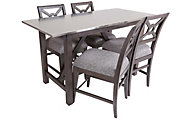 Klaussner Trisha Yearwood Counter Table & 4 Stools