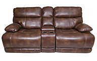 Klaussner Rizzo Power Reclining Console Loveseat