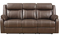 Klaussner Domino Reclining Sofa w/Drop Down Table