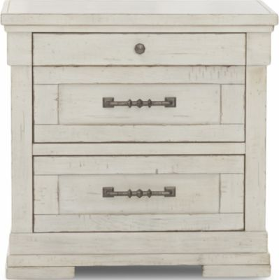 Klaussner Retreat White Nightstand