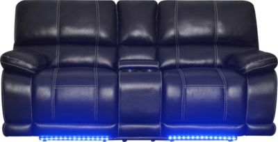 Klaussner Electra Power Recline Console Loveseat