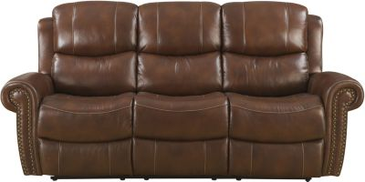 Klaussner Alomar Power Recline Leather Sofa