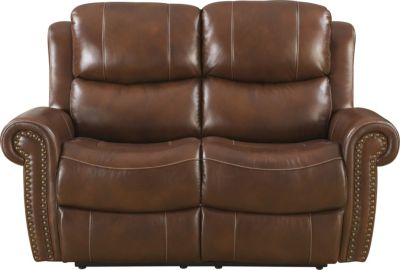 Klaussner Alomar Power Recline Leather Loveseat