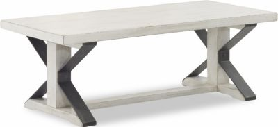 Klaussner Friendship White Coffee Table