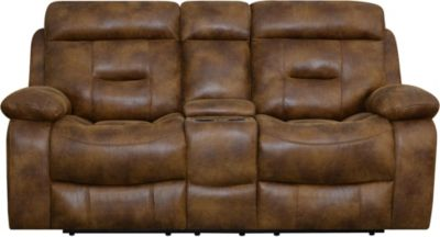Klaussner Cano Reclining Console Loveseat
