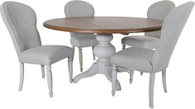 Klaussner Nashville White Table with 4 Side Chairs