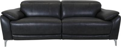 K Motion KM 515 Gray Leather Power Headrest Sofa