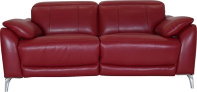 K Motion KM515 Collection Leather Power Loveseat with Power