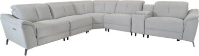 K Motion KM510 Collection 6-Piece Power Headrest Sectional
