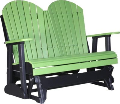 Amish Outdoors Deluxe Adirondack Outdoor Glider Loveseat ...