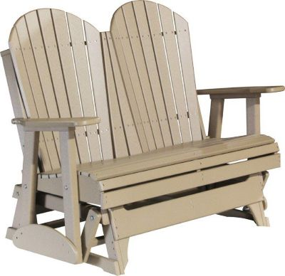 Amish Outdoors Deluxe Adirondack Outdoor Glider Loveseat
