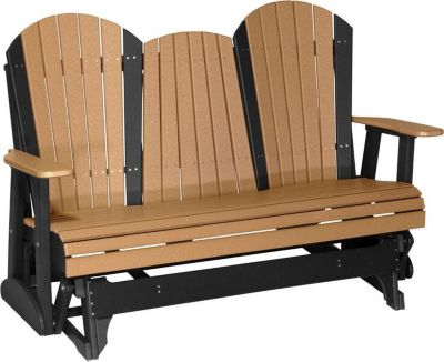 Amish Outdoors Deluxe Adirondack Outdoor Glider Sofa with Console ...