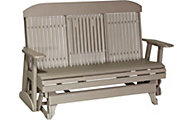 Amish Outdoors Classic High-Back Outdoor Glider Sofa with Console