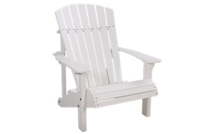 Amish Outdoors White Deluxe Adirondack Chair