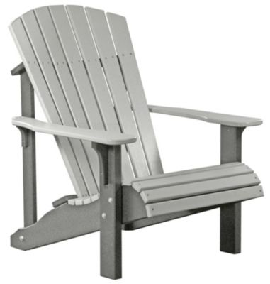 Amish Outdoors Gray Deluxe Adirondack Chair