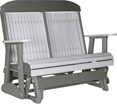 Amish Outdoors Classic High-Back Outdoor Glider Loveseat