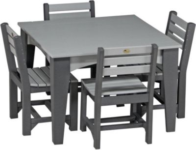 Amish Outdoors Island 5-Piece Outdoor Dining Set
