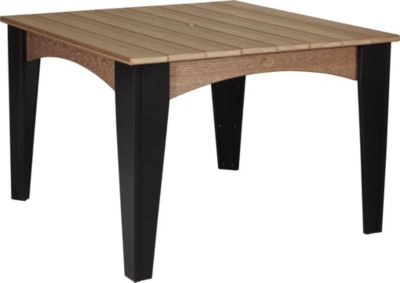 Amish Outdoors Island Square Outdoor Dining Table