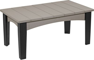 Amish Outdoors Island Rectangular Patio Coffee Table