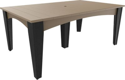 Amish Outdoors Island Rectangular Outdoor Dining Table