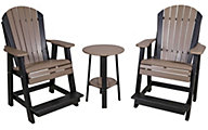 Amish Outdoors 2 Balcony Adirondack Chairs & Side Table