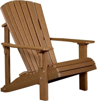 Amish Outdoors Deluxe Antique Mahogany Adirondack Chair