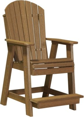 Amish Outdoors Balcony Poly Chair Antique Mahogany