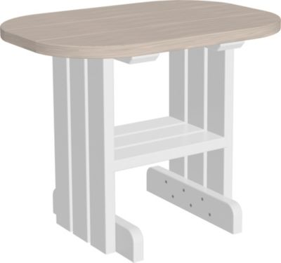 Amish Outdoors Adirondack Deluxe Oval End Table Birch/White