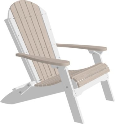 Amish Outdoors Adirondack Folding Chair in Birch/White