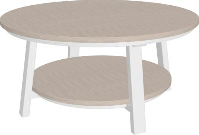 Amish Outdoors Adirondack Deluxe Conversation Table Birch/White
