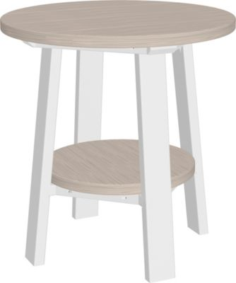 Amish Outdoors Adirondack Deluxe End Table Birch/White