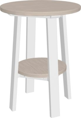 Amish Outdoors Adirondack Deluxe 28-Inch End Table Birch/White