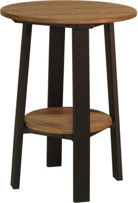 Amish Outdoors Adirondack Deluxe 28-Inch End Table Mahogany/Black