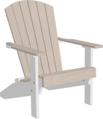 Amish Outdoors Adirondack Lakeside Chair in Birch/White