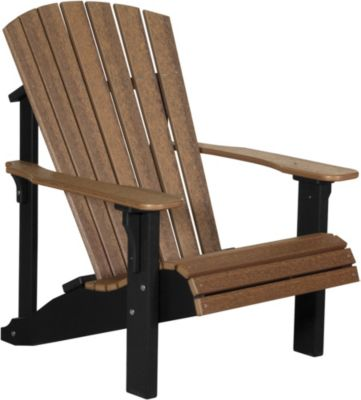 Amish Outdoors Adirondack Adirondack Chair in Mahogany/Black