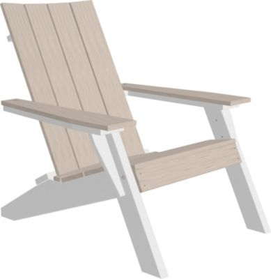 Amish Outdoors Adirondack Urban Chair Birch/White