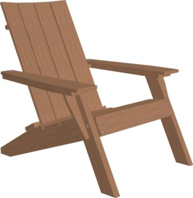 Amish Outdoors Adirondack Urban Chair Antique Mahogany