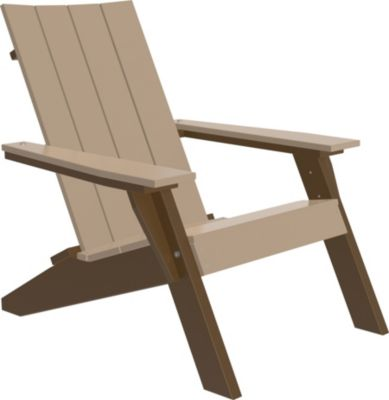 Amish Outdoors Adirondack Urban Chair Weatherwood/Brown