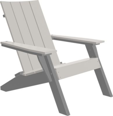 Amish Outdoors Adirondack Urban Chair Dove Gray/Slate