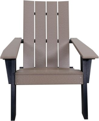 Amish Outdoors Adirondack Urban Chair Weatherwood/Black