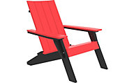 Amish Outdoors Adirondack Urban Chair Red/Black