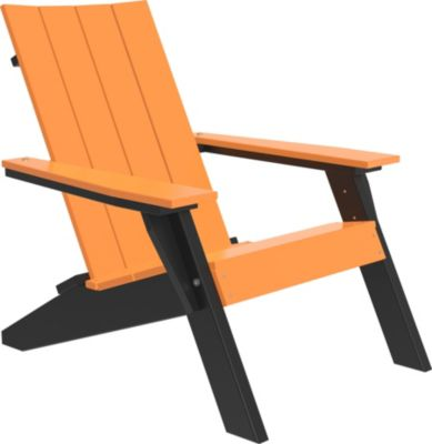 Amish Outdoors Adirondack Urban Chair Tangerine/Black