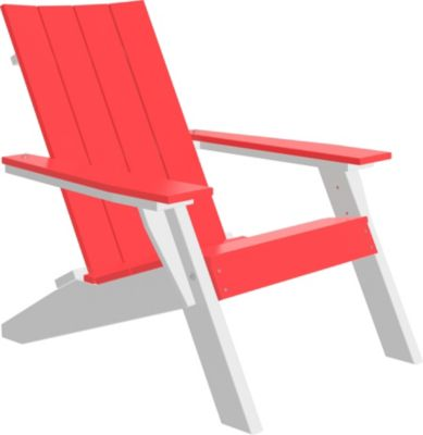 Amish Outdoors Adirondack Urban Chair Red/White