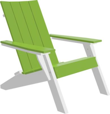 Amish Outdoors Adirondack Urban Chair Lime/White