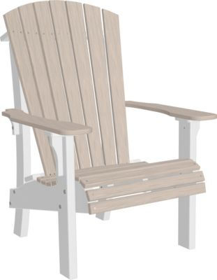 Amish Outdoors Adirondack Royal Chair Birch/White