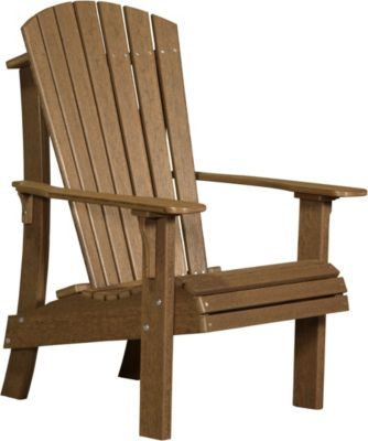 Amish Outdoors Adirondack Royal Chair Antique Mahogany